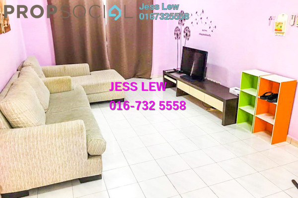 For Sale Apartment at Bandar Hilir, Melaka Leasehold Fully Furnished 3R/2B 210k