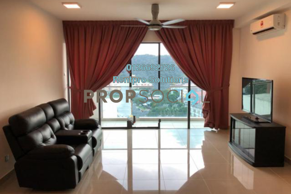 For Rent Condominium at Amerin Mall & Residence, Balakong Freehold Semi Furnished 3R/2B 2k