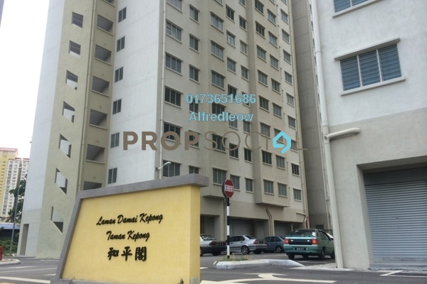 For Rent Apartment at Laman Damai, Kepong Freehold Unfurnished 3R/2B 750translationmissing:en.pricing.unit