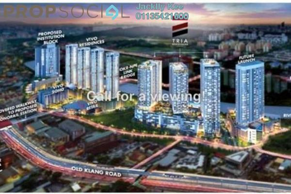 For Sale Condominium at Tria Residences @ 9 Seputeh, Old Klang Road Freehold Fully Furnished 4R/5B 1.99m