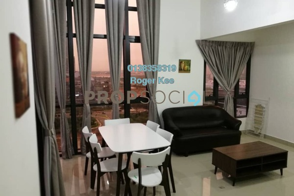 For Rent Duplex at Eclipse Residence @ Pan'gaea, Cyberjaya Freehold Fully Furnished 3R/2B 2k