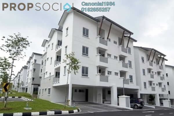 For Rent Townhouse at Bayan Villa, Seri Kembangan Freehold Semi Furnished 4R/2B 1.4k