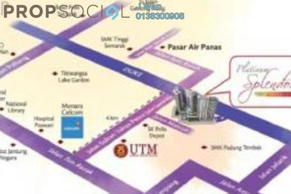 For Sale Condominium at Platinum Splendor Residence, Kuala Lumpur Freehold Unfurnished 3R/2B 500k