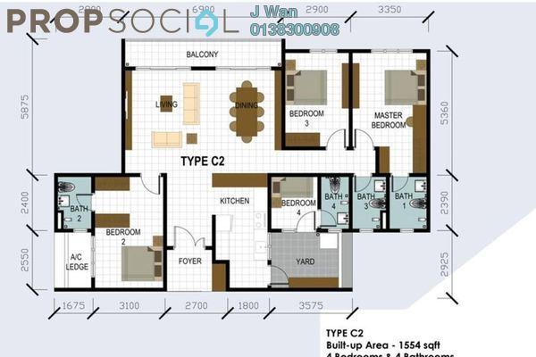 For Sale Condominium at Hamilton Residence, Wangsa Maju Leasehold Unfurnished 4R/4B 820k