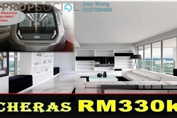For Sale Serviced Residence at Taman Connaught, Cheras Freehold Unfurnished 2R/2B 330k