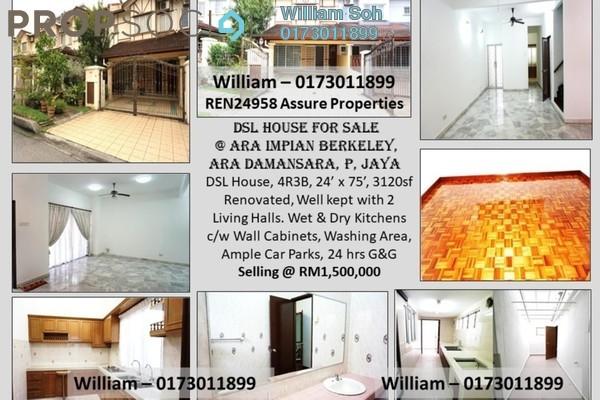 For Sale Terrace at Berkeley, Ara Damansara Freehold Semi Furnished 4R/3B 1.5m