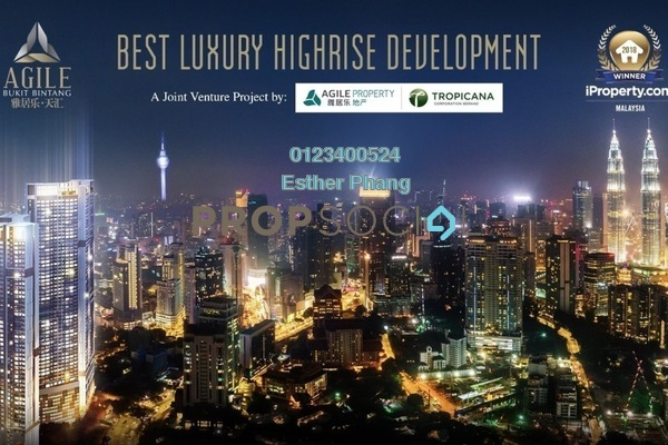 For Sale Serviced Residence at Agile , Bukit Bintang Freehold Semi Furnished 1R/1B 1.15m