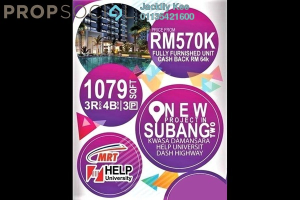 For Sale Condominium at Nadayu 801, Subang Leasehold Fully Furnished 4R/4B 530k
