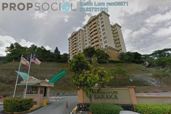 For Rent Condominium at Saraka Apartment, Pusat Bandar Puchong Freehold Semi Furnished 3R/2B 1.2k