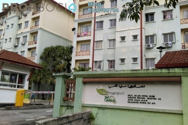 For Sale Apartment at Seri Galaksi Apartment, Subang Freehold Fully Furnished 4R/2B 290k
