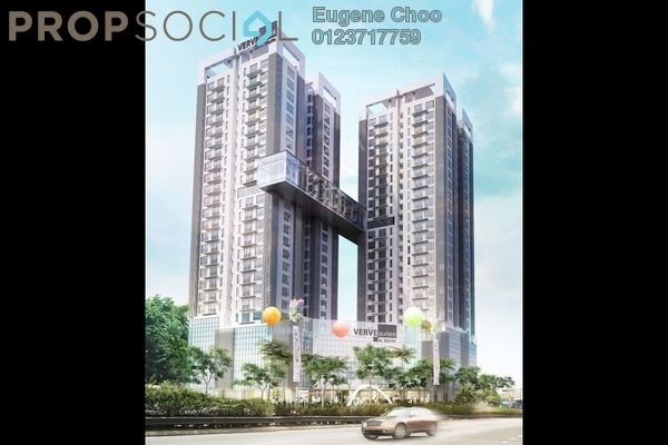 For Sale Condominium at VERVE Suites, Old Klang Road Freehold Fully Furnished 3R/2B 610k
