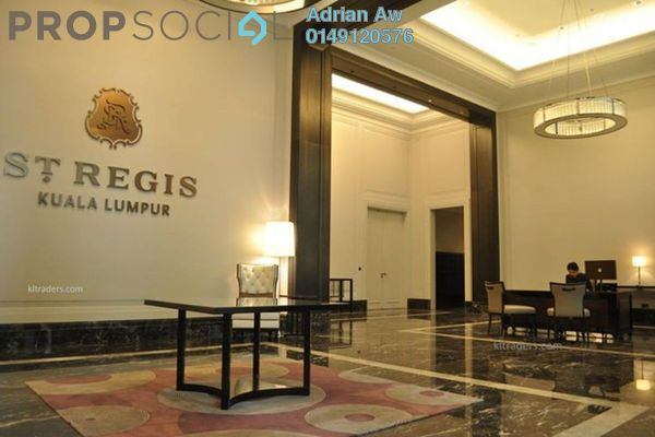 For Rent Serviced Residence at St Regis Residences, KL Sentral Freehold Fully Furnished 3R/2B 42.6k