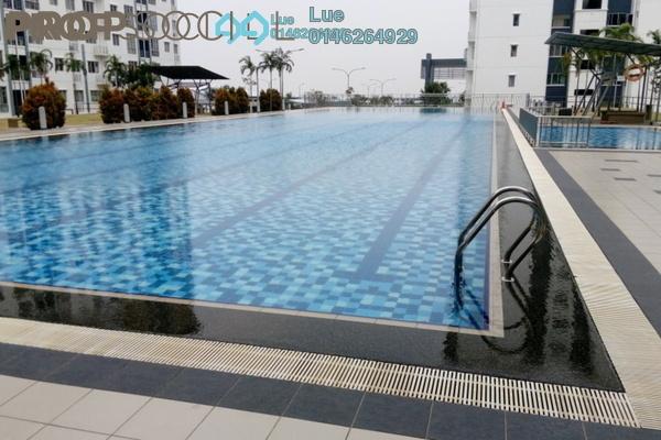 For Rent Apartment at Seri Baiduri, Setia Alam Freehold Semi Furnished 3R/2B 1.1k