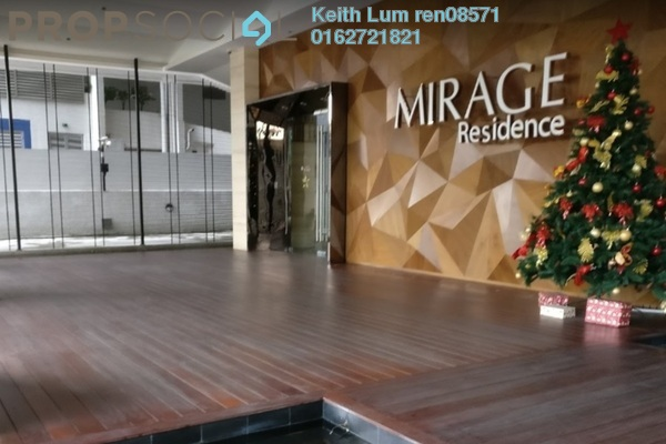 For Rent Condominium at Mirage Residence, KLCC Freehold Fully Furnished 1R/1B 2.8k