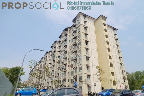 For Rent Apartment at Baiduri Courts, Bandar Bukit Puchong Freehold Fully Furnished 3R/2B 1.1k