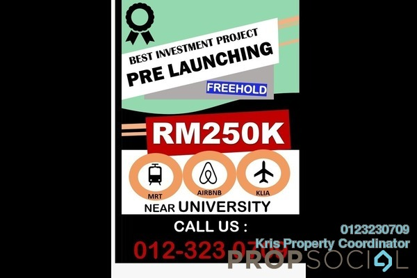 For Sale Condominium at i-City, Shah Alam Freehold Semi Furnished 2R/2B 250k