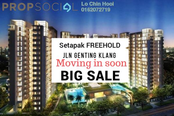For Sale Condominium at Prima Setapak I, Setapak Freehold Unfurnished 3R/2B 380k