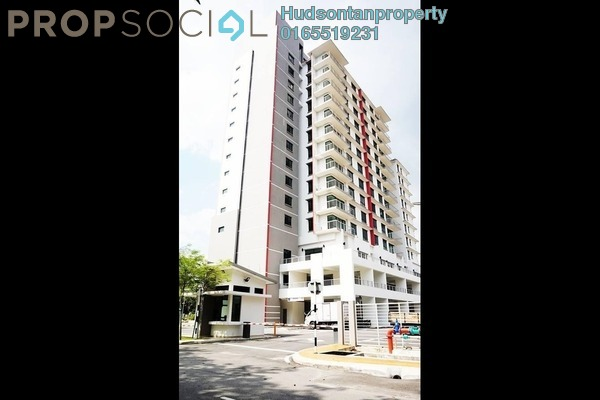 For Sale Condominium at Pinang Heights, Shah Alam Freehold Semi Furnished 3R/2B 465k