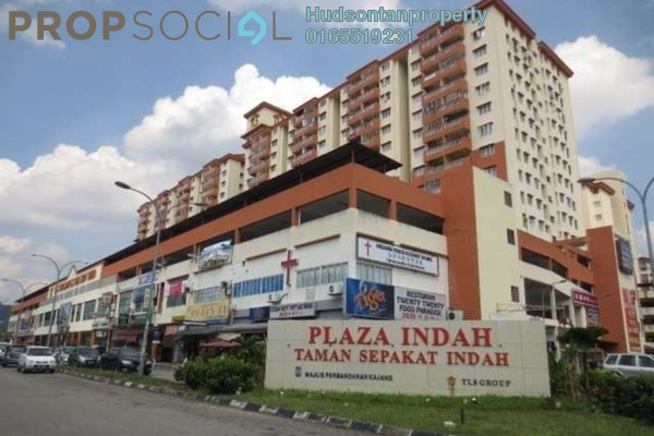 For Sale Condominium at Plaza Indah, Kajang Freehold Semi Furnished 3R/2B 230k