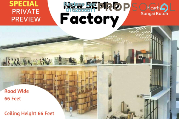 For Sale Factory at Nouvelle Industrial Park, Kota Puteri Leasehold Unfurnished 0R/7B 2.9m