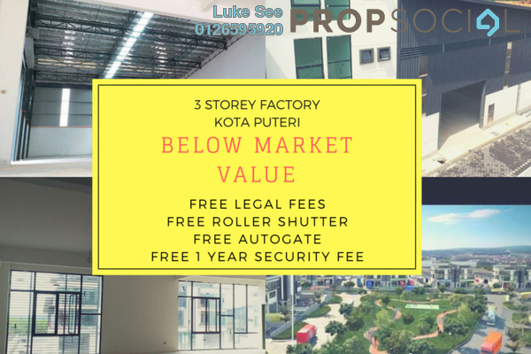 For Sale Factory at Nouvelle Industrial Park, Kota Puteri Leasehold Unfurnished 0R/7B 2.95m