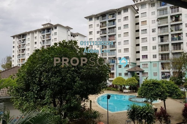 For Rent Apartment at Akasia Apartment, Pusat Bandar Puchong Freehold Semi Furnished 3R/2B 1k