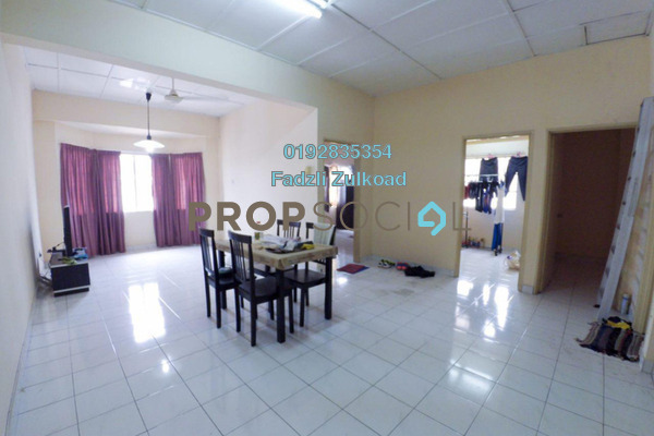 For Sale Apartment at Mawar Apartment, Sentul Leasehold Semi Furnished 3R/2B 330k