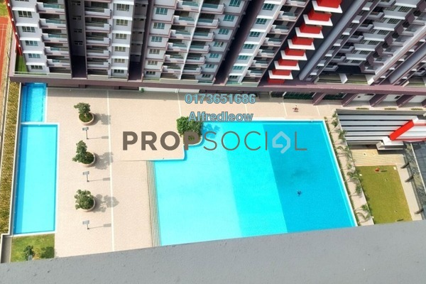 For Sale Condominium at Platinum Lake PV21, Setapak Freehold Semi Furnished 3R/2B 470k