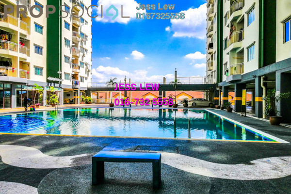 For Sale Condominium at Kepong Central Condominium, Kepong Freehold Semi Furnished 3R/2B 325k