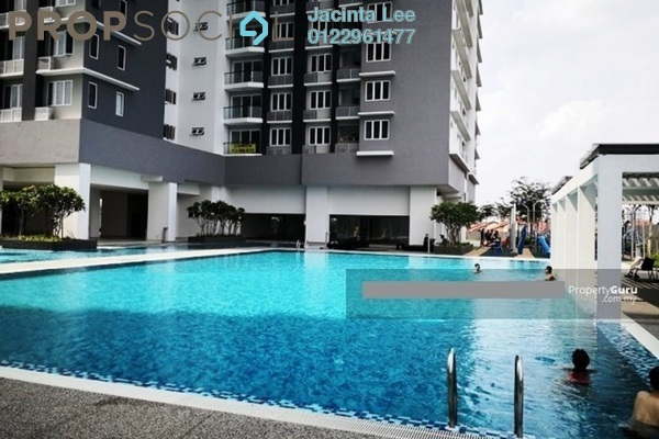 For Sale Condominium at Aurora Residence @ Lake Side City, Puchong Freehold Semi Furnished 3R/2B 351k