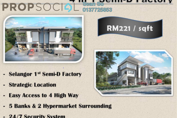 For Sale Factory at Nouvelle Industrial Park, Kota Puteri Leasehold Semi Furnished 0R/7B 2.95m