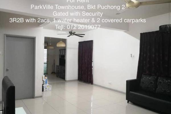 For Rent Apartment at Park Villa, Bandar Bukit Puchong Freehold Semi Furnished 3R/2B 1.7k