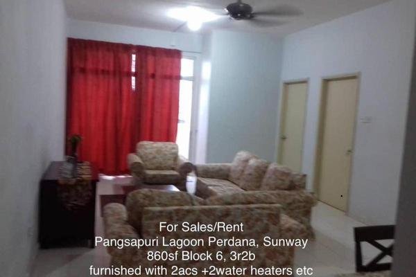 For Rent Apartment at Lagoon Perdana, Bandar Sunway Freehold Fully Furnished 3R/2B 1.2k