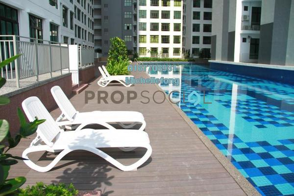 For Rent Serviced Residence at D'Summit Residences, Skudai Freehold Fully Furnished 2R/2B 1.2k