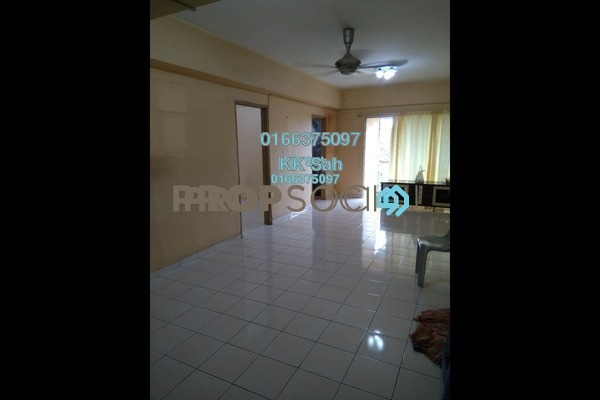 For Sale Apartment at Section 16, Shah Alam Freehold Semi Furnished 3R/2B 278k