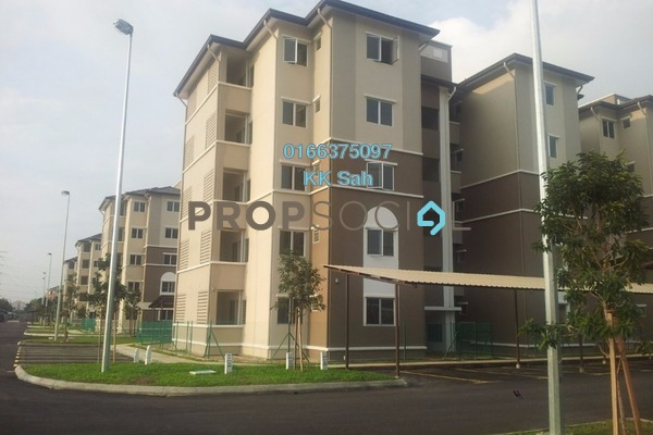 For Sale Apartment at Akasia Apartment, Klang Freehold Semi Furnished 3R/2B 189k