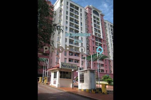 For Rent Apartment at Sutramas, Bandar Puchong Jaya Freehold Semi Furnished 3R/0B 1k