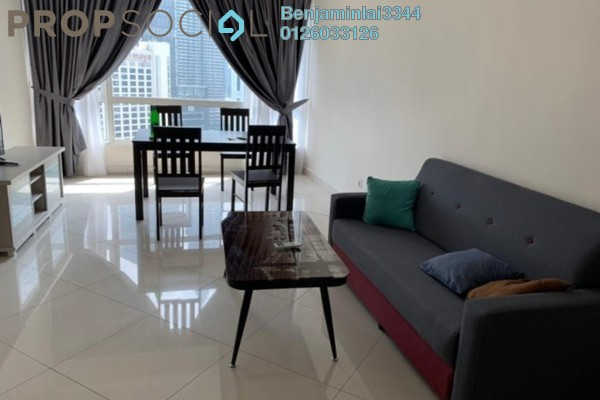 For Rent Apartment at Crest Jalan Sultan Ismail, KLCC Freehold Fully Furnished 3R/2B 3.5k