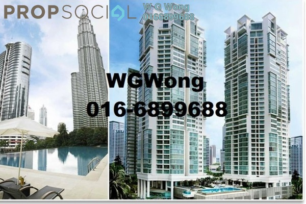 For Rent Condominium at Marc Service Residence, KLCC Freehold Fully Furnished 1R/1B 3k
