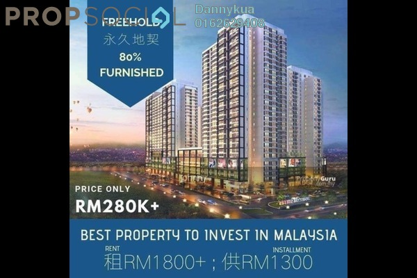 For Sale Condominium at Horizon Suites Site, Dengkil Freehold Fully Furnished 2R/2B 270k