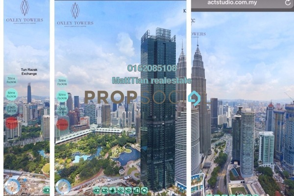For Sale Serviced Residence at Oxley Towers, Kuala Lumpur Freehold Semi Furnished 1R/1B 1.35m