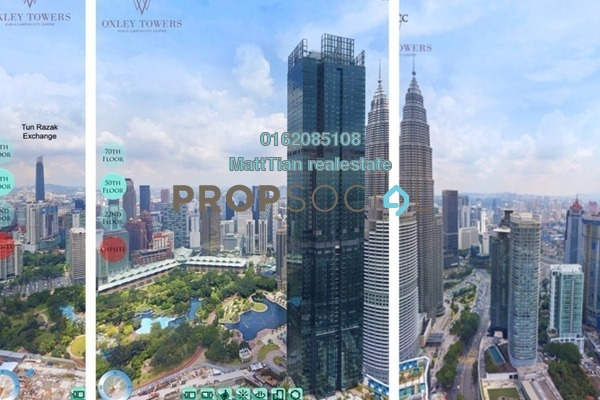 For Sale Serviced Residence at Oxley Towers, Kuala Lumpur Freehold Semi Furnished 2R/2B 2.01m