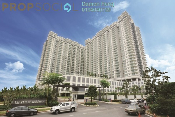 For Rent Condominium at Le Yuan Residence, Kuchai Lama Freehold Fully Furnished 3R/3B 3k