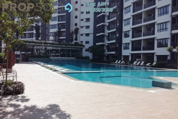 For Rent Condominium at Suria Residence, Bukit Jelutong Freehold Semi Furnished 2R/2B 1.8k