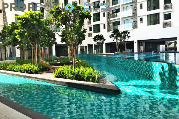 For Rent Condominium at Trinity Aquata, Sungai Besi Freehold Semi Furnished 3R/2B 1.6k