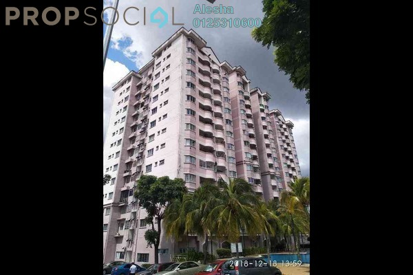 For Sale Apartment at Taman Sungai Besi Indah, Seri Kembangan Freehold Unfurnished 0R/0B 268k