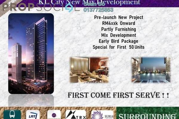 For Sale Serviced Residence at Trion, Kuala Lumpur Freehold Semi Furnished 2R/1B 475k
