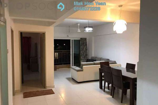 For Rent Condominium at Casa Tropika, Puchong Freehold Semi Furnished 3R/2B 1.75k