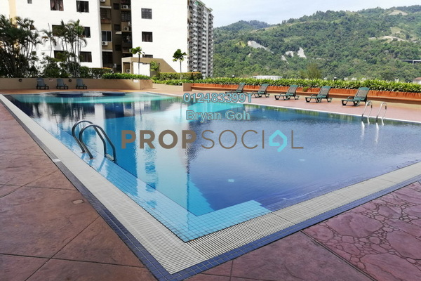 For Rent Condominium at Parkview Towers, Bukit Jambul Freehold Semi Furnished 3R/2B 1.3k