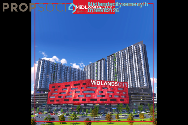 For Sale SoHo/Studio at Midlands City, Semenyih Freehold Unfurnished 1R/2B 284k